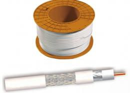 Cable coaxial CCS/AL Blanco