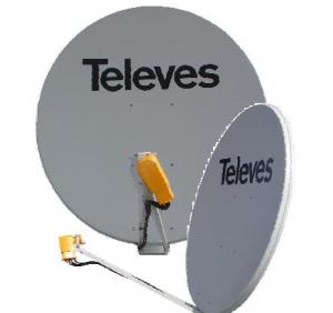 Antena Parabólica Offset 125 cm Aluminio